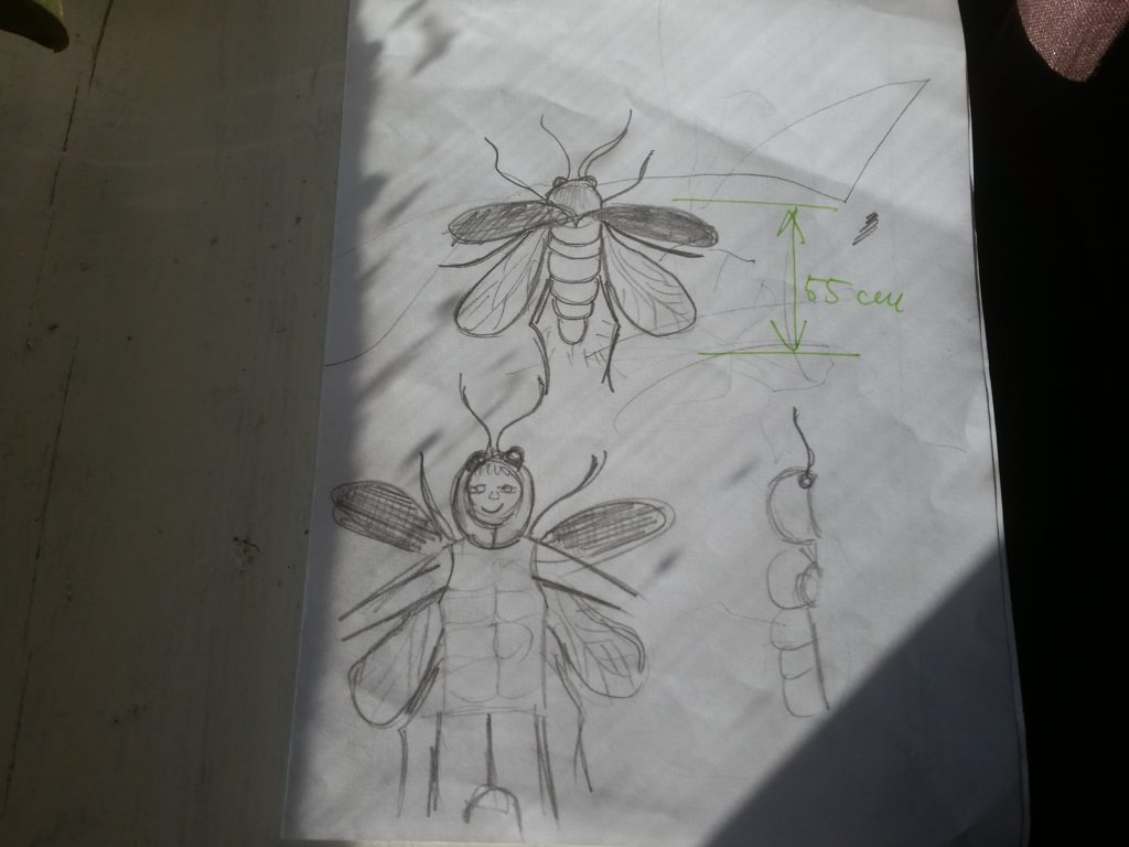 Fire fly drawing