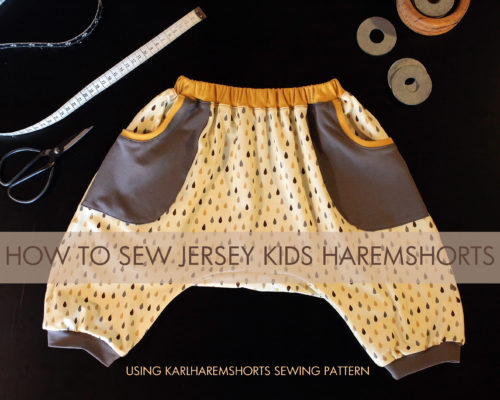 How to sew jersey haremshorts